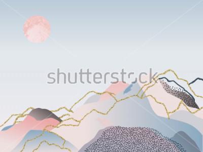 Canvastavlor Abstrakt minimal bakgrund. Skandinavisk design. Vektillustration