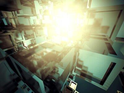 Canvastavlor Abstrakt mörk Metalliskt Glänsande Industrial Bakgrund