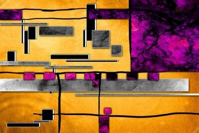 Canvastavlor Abstrakt oljemålning illustration