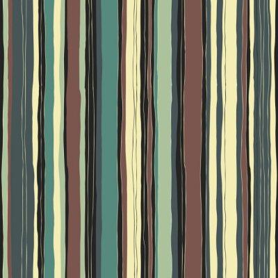 Canvastavlor Abstrakt retro färger randmönster. Sömlösa handritade linjer