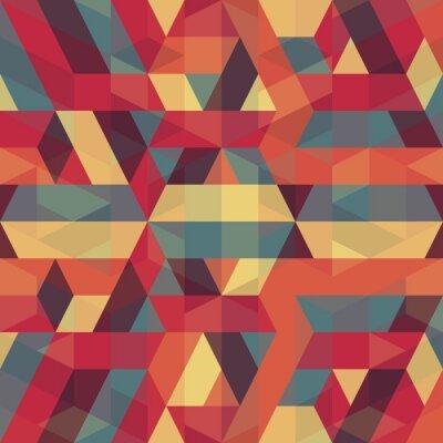 Canvastavlor abstrakt retro geometriska mönster