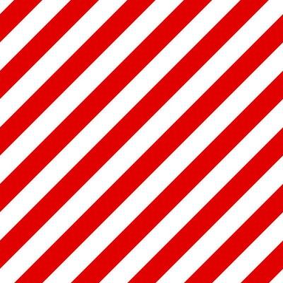 Canvastavlor Abstrakt Seamless diagonal randigt mönster med röda och vita st