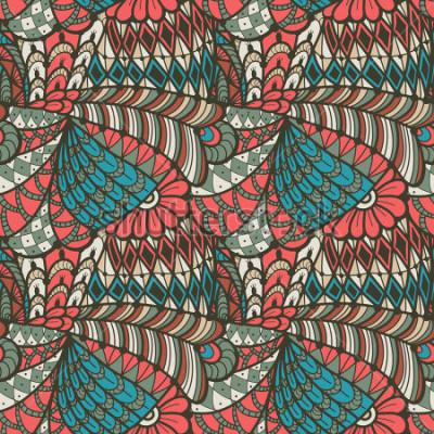 Canvastavlor Abstrakt sömlöst mönster i klotterstil. Vektor illustration