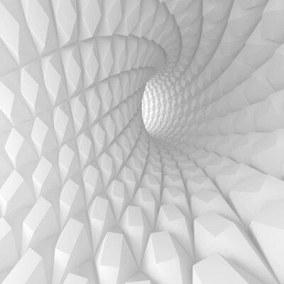 Canvastavlor Abstrakt Spiral Tunnel Render