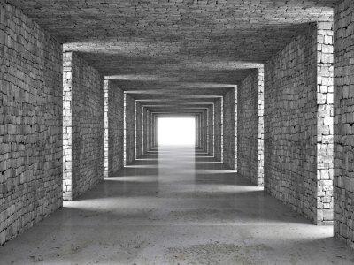 Canvastavlor abstrakt tunnel