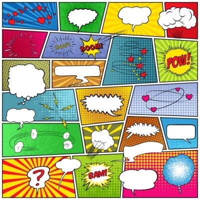 Canvastavlor Abstrakt uppsättning komiska mall