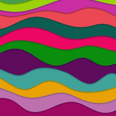 Canvastavlor Abstrakt vågig bakgrund