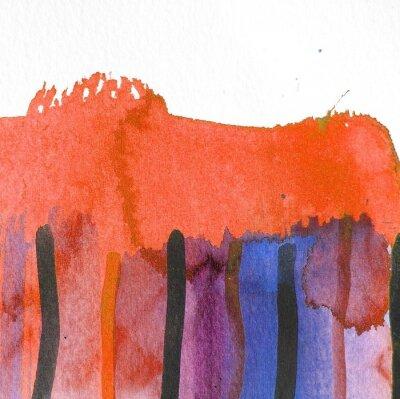 Canvastavlor abstrakt vattenfärg bakgrund design