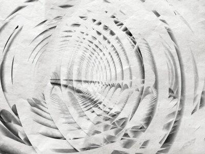 Canvastavlor Abstrakt vita spiral illustration bakgrund