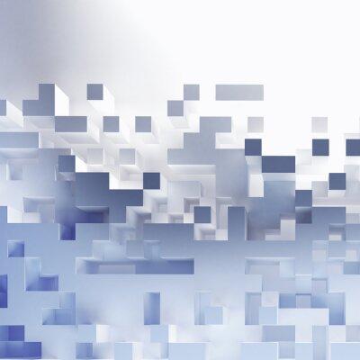 Canvastavlor Abstrakta kuber tapeter
