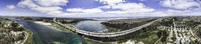 Canvastavlor Aerial Panorama av Batisquitos lagunen i Carlsbad, Kalifornien, USA.