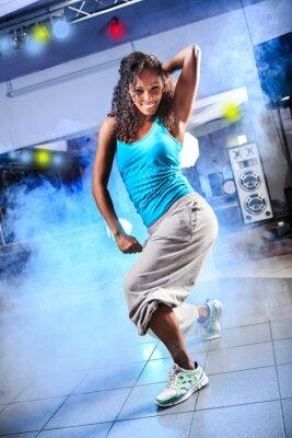 Canvastavlor aerobics flicka