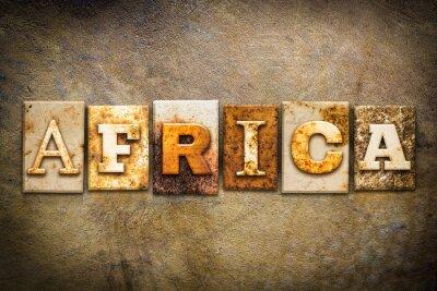 Canvastavlor Afrika Concept boktryck Läder Tema