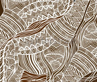 Canvastavlor Afrikansk bakgrund i den etniska stilen av handmålade