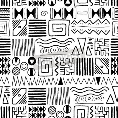 Canvastavlor Afrikansk etnisk mönster - inhemska konstbakgrund. Afrika utformar design.