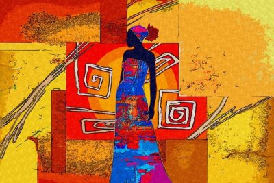 Canvastavlor afrikanska motiv etniska retro vintage