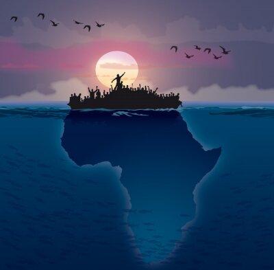 Canvastavlor Afrique - Emigration
