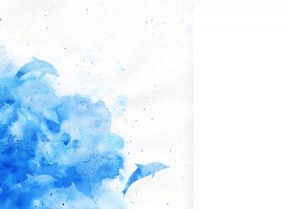 Canvastavlor akvarell bakgrund