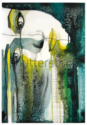 Canvastavlor akvarellporträtt av vacker flicka | handgjorda | självtillverkade | Målning