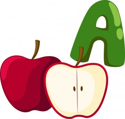 Canvastavlor alfabet A för Apple