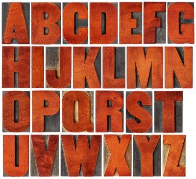 Canvastavlor alfabetet som i boktryck träslag