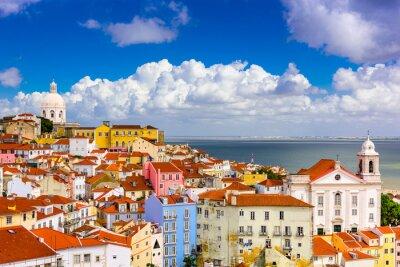 Canvastavlor Alfama Lissabon Stadsbild