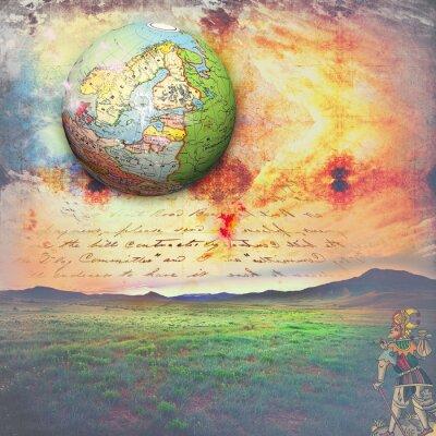 Canvastavlor Allegori resa med galna tarot