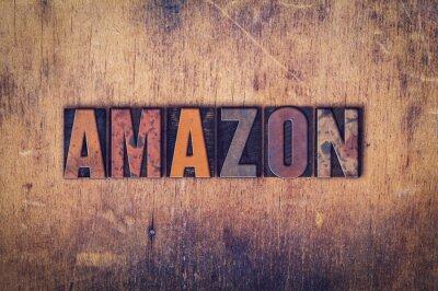 Canvastavlor Amazon Concept Wooden boktryck Type