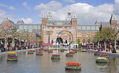 Canvastavlor Amsterdam landmärke
