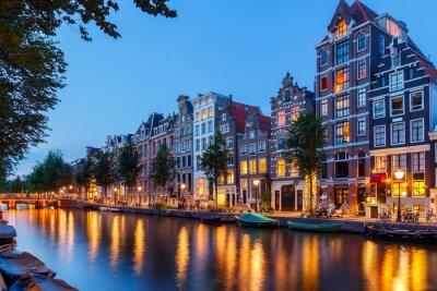 Canvastavlor Amsterdams kanaler.