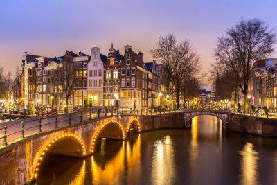 Canvastavlor Amsterdams kanaler