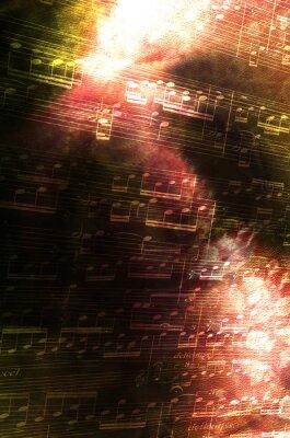 Canvastavlor Anteckningar med abstrakt bakgrund