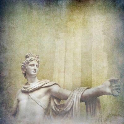 Canvastavlor Antik hellenistiska skulpturer på grunge bakgrund