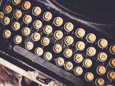 Canvastavlor Antik skrivmaskin Tappning objekt bakgrund