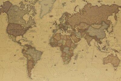 Canvastavlor Antika världskarta