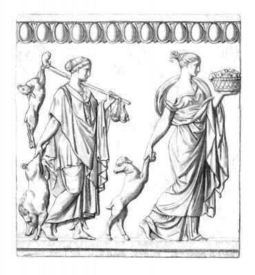 Canvastavlor Antiken: Roman Kvinnor