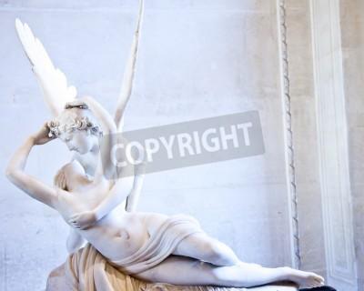 Canvastavlor Antonio Canova staty Psyche återupplivades av Amors Kiss, först i drift 1787, exemplifierar neoklassiska hängivenhet att älska och känslor