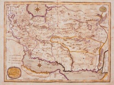 Canvastavlor Arabiska gammal karta