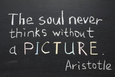 Canvastavlor Aristotle citat