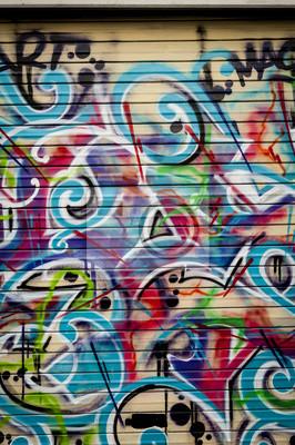 Canvastavlor Arrière planen colore graffiti