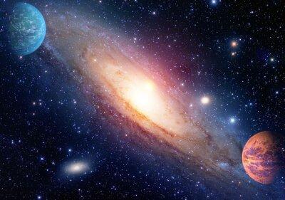 Canvastavlor Astrologi astronomi rymden big bang solsystemet planet galax skapelse. Delar av denna bild som tillhandahålls av NASA.