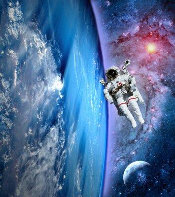 Canvastavlor Astronaut Spaceman Earth Måne