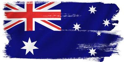 Canvastavlor australien flagga