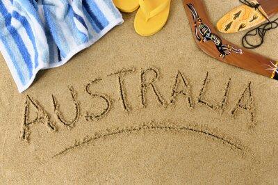 Canvastavlor Australien strand bakgrund