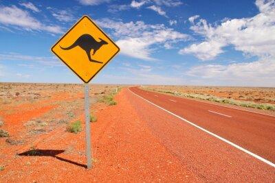 Canvastavlor Australiskt ändlösa vägar