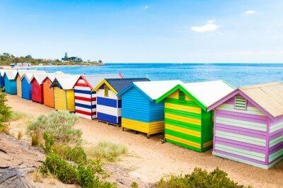 Canvastavlor Bad lådor på Brighton Beach, Australien