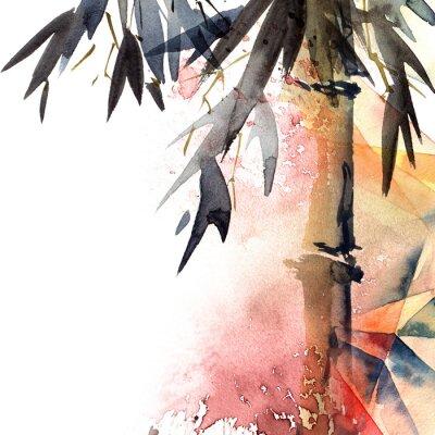 Canvastavlor Bakgrund med bambu