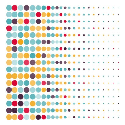 Canvastavlor Bakgrund med färgade streckade cirklar i en vektor