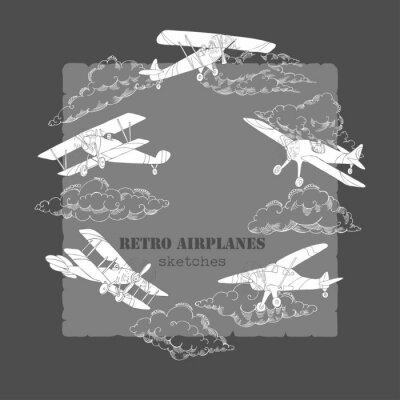 Canvastavlor Bakgrund med flygplan