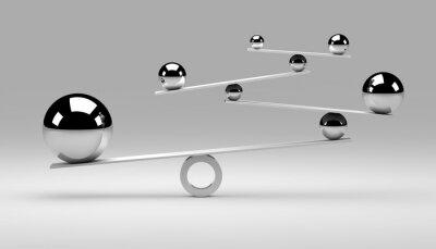 Canvastavlor Balans Concept / bollar